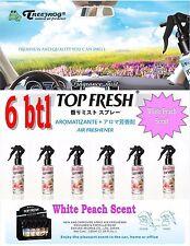 6 Btl Spray Treefrog TOP FRESH Fragrance Mist Air Freshener- WHITE PEACH Scent