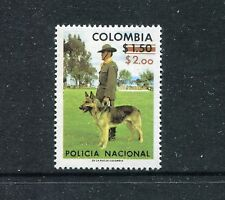 Colombia 850, MNH, Policeman with Dog 1977 surcharged.  x23057