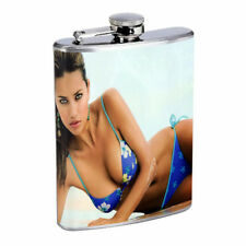 Argentina Pin Up Girls D14 Flask 8oz Stainless Steel Hip Drinking Whiskey