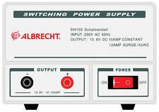 Albrecht Schaltnetzteil SW 102, 10-12 A, 13,8 V, CB Funk, Neu + OVP