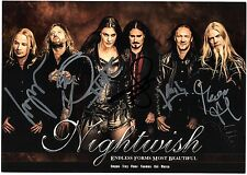 NIGHTWISH Picture FULLY SIGNED Floor Jansen Tuomas Holopainen Marco +3 AUTOGRAPH