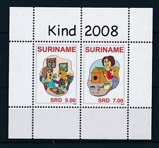[SU1578] Suriname Surinam 2008 Children Flora Flowers Painting Sheet MNH