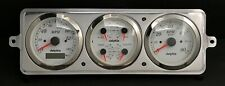 1939 CHEVY CAR 3 GAUGE GPS DASH PANEL CLUSTER WHITE