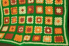 "Handmade Afghan Lap Blanket Throw Granny Square 36"" x 36"""