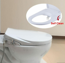 Hibbent Round Bidet Toilet Seats Non-Electric with Separated Self Cleaning Knob