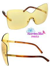 Authentic FENDI Shield Sunglasses FS5273 799-65-20-135  Yellow 100% UVA and UVB