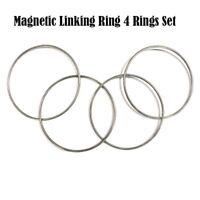 Large Size Magnetic Linking Ring 4 Rings Set (Stainless Steel) Magic Tricks Fun