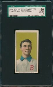 1909-1911 T206 Piedmont Frank Bowerman 150 SGC 4 Not PSA VG-EX *OBGcards*