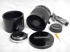 Tamron SP 500mm f8 Tele Macro + HOOD Paraluce + Canon FD Adaptall Excellent