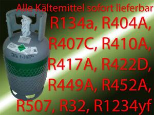 R134a R1234yf R32 R404A R407C R410A R449A R452A R507 Kältemittel Refrigerant Gas