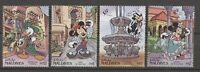 Walt Disney, Granada, Trachten - Malediven - 1703-1706 ** MNH 1992