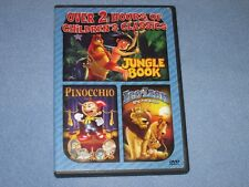 JUNGLE BOOK/ PINOCCHIO/ LEO THE LION (DVD, 2003) ***Rare, OOP!*** Good Times DVD