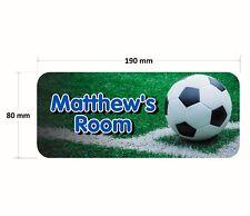 Football Door Plaque Blue - Soccer Personalised Childrens Bedroom Sign Boy Girl