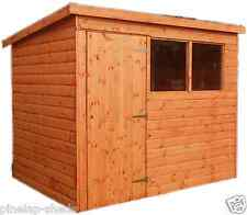 10x4 PENT ROOF GARDEN SHED FULLY T&G STORAGE HUT CHOOSE YOUR OWN DOOR POSITION