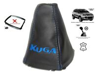 Gear Stick Gaiter For Ford Kuga II 2012-2019 Leather Blue Embroidery