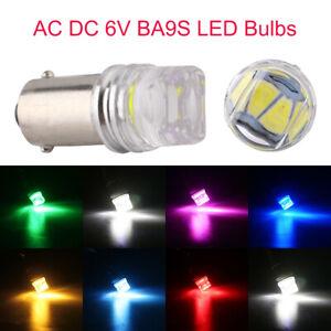 100Pcs AC DC 6V LED Bulb BA9S T4W 53 53X 615 1889 1895 1893 64111 5630 LED Bulbs
