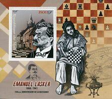 Mali 2018 MNH Emanuel Lasker 150th Birth Anniv 1v S/S Chess Games Sports Stamps