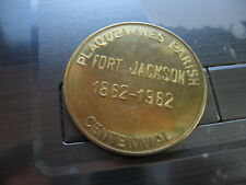 fort jackson plaquemines parish bronze Mardi Gras Doubloon Coin new orleans nola