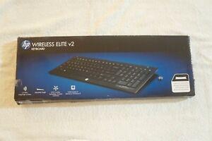 NEW HP Elite v2 Keyboard - Wireless Connectivity  English  QB467AA OPEN BOX