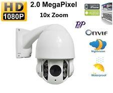 "4"" Dome 10X Zoom 2.0 Megapixel Mini IP PTZ Outdoor IR Security Camera 2mp 1080p"