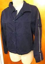 KATHY IRELAND button-down jacket med spandex women's work coat military racing