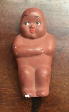 """Painted Bisque 3 3/8"""" Baby Doll, Native/Indian. Googly Eyes - made in Japan."""