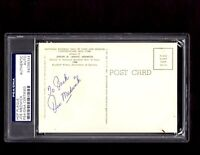 JOE MEDWICK CARDINALS SIGNED AUTOGRAPH BASEBALL HOF PLAQUE POSTCARD PSA/DNA