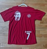 Manchester United Di Maria Face  Red T shirt  Mens Size Medium Tee