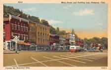 Pomeroy Ohio Main Street Parking Lot Antique Postcard K92803