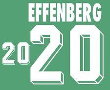 Effenberg #20 Germany World Cup 1994 Away Football Nameset for shirt