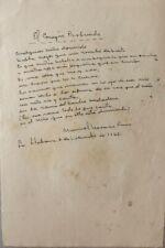 Manuscrito de la poesía el corazón profundo por Manuel Navarro Luna 1965