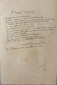 Manuscript of the poetry  ̈The Deep Heart ̈ by Manuel Navarro Luna 1965