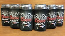 Coors Light Nascar Racing Beer Koozie Can Cooler Coozie ~ Set of (6) ~ NEW & F/S
