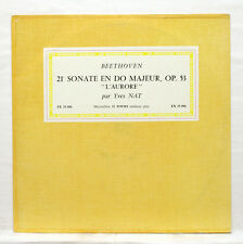 "YVES NAT - BEETHOVEN sonata no.21 DISCOPHILES FRANCAIS 10"" LP EX+"