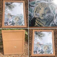 🌈Vintage Tigers Tropical Jungle Rainforest Mirror Hollywood Regency Palm Beach