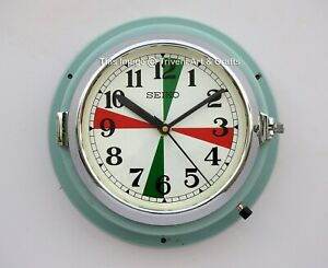 Vintage Navigation Maritime Industrial Clock Slave ship Quartz Seiko Japan Made