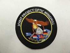 MILITARY PATCH JOINT PROJECT OPTIC WINDMILL HOOK AND LOOP BACK