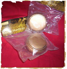 "2ea WOODEN FINIALS END CAP, GOLD, 3"" for Curtain Drapes 2-1/8"" diam Rod Pole NEW"
