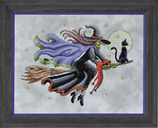 GLENDON PLACE Cross Stitch Pattern Chart CRUISIN' Witch on Broom