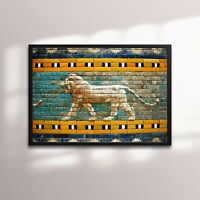 Luxury Framed Print The Striding Lion of Ishtar Gate - Babylon/Sumerian/Assyrian