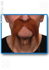 Moustache longue rousse postiche façon mexicaine [6867] deguisement theatre fete