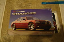 2007 DODGE CHARGER 5.7L 3.5L 2.7 L OWNERS MANUAL PACKET SET