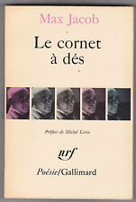 Le cornet à dés - Max Jacob. Man Ray photo de couv . nrf poésie Gallimard 1967