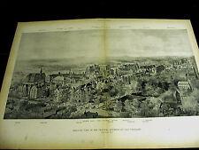 Yale University Bird's Eye View VANDERBILT OSBORN LAWRENCE HALL 1894 Large Print