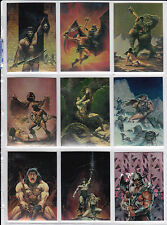 All Five Conan Card sets - Conan 1, 2, 3, Marvel Years Chromium & Hyborian Age