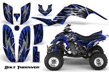 YAMAHA RAPTOR 660 GRAPHICS KIT CREATORX DECALS STICKERS BOLT THROWER BLUE