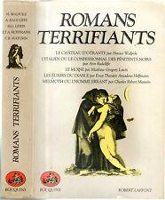 ROMANS TERRIFIANTS - BOUQUINS - 1987 -RADCLIFFE/WALPOLE