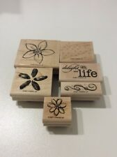 "Stampin' Up! ""Delight in Life"" 2007 Full Set of 6 Stamps In Original Box NEW"