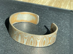 RIETVELD MENS CUFF BRACELET WITH COPPER & STEEL ACCENTS BENDS TO FIT.          C