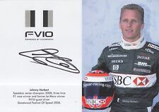 Johnny Herbert Hand Signed Formula 1 Promo Card Jaguar.